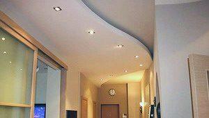 потолки из гипсокартонных панелей
